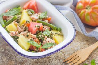 Insalata fagiolini pomodori e tonno: per la primavera