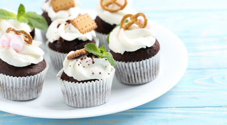 I cupcake al cioccolato e menta con la ricetta facile