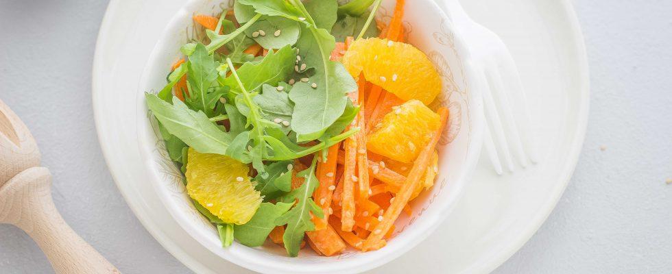 Insalata di arance e carote, contorno vegano