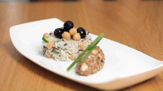 Insalata di riso vegana, per pranzo