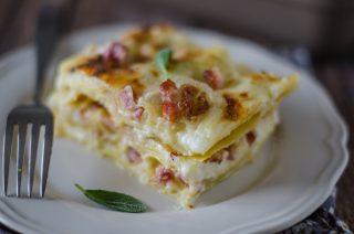 Lasagne alla valdostana: fontina e pancetta