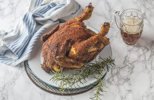 Pollo intero alla birra: Beer Can Chicken