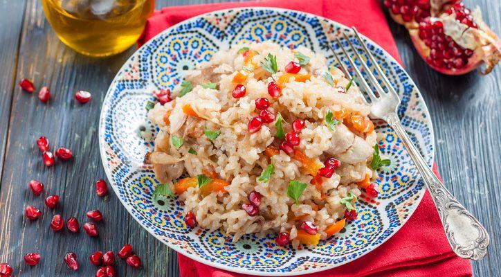 Il riso al melograno e speck da fare con il Bimby, la ricetta di San Valentino last minute