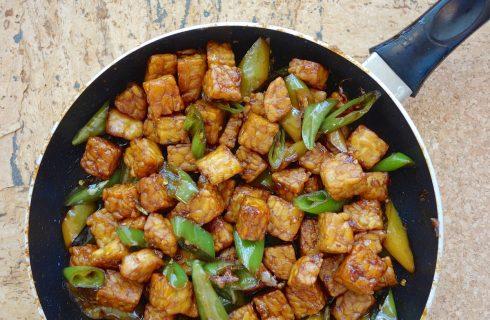 Il tempeh con le verdure, il secondo vegan e gustoso