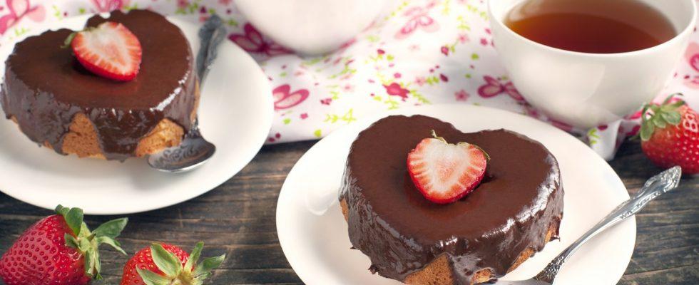 La torta per San Valentino con due cuori