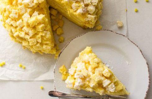 Torta mimosa con chantilly al limone: la ricetta golosa