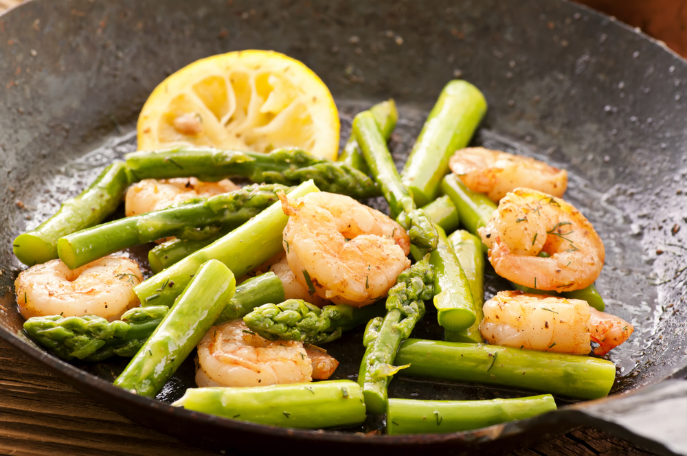 Ricetta gamberi e asparagi agrodolce for Secondi piatti ricette