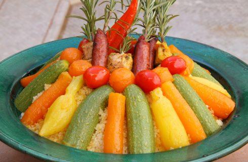 La ricetta del cous cous piccante alle verdure, piatto unico marocchino