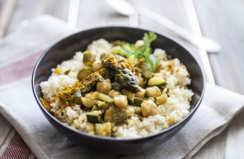 Cous cous con curry, vegano