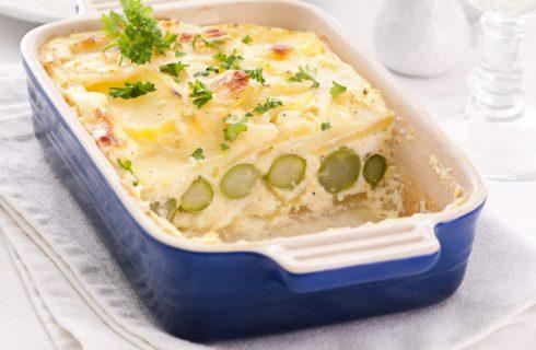 Sformato di patate e asparagi al forno