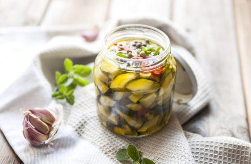 Zucchine sott'olio, secondo light