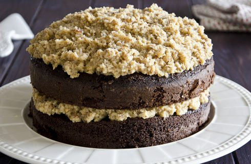 German chocolate cake, gustoso dolce al cioccolato