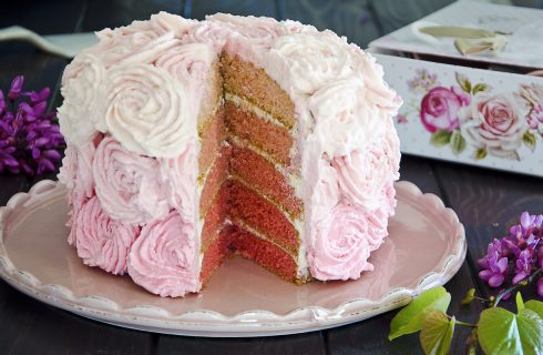 Pink rose cake: romantica
