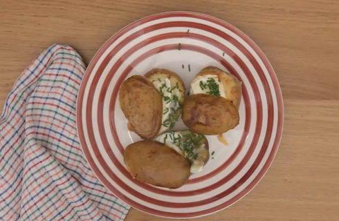 Barchette di patate con funghi e brie