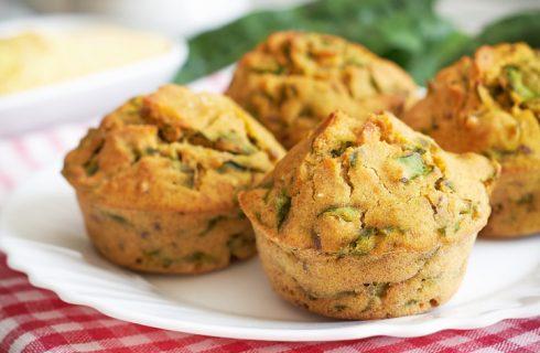 I muffin rucola e parmigiano perfetti per un pic nic
