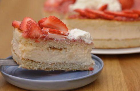 Non accendete quel forno: Torta fredda di fragole