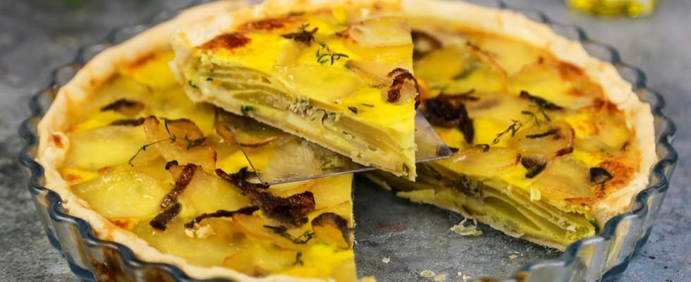 Torta salata di patate e formaggio, rustico sfizioso