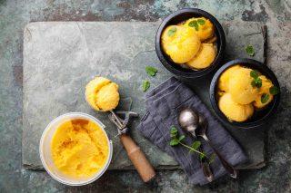 Sorbetto al mango, senza lattosio