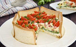 Charlotte salata, torta rustica vegetariana
