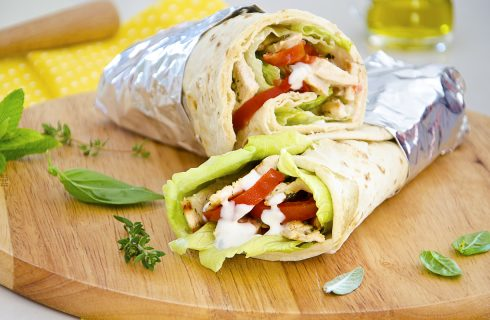 Chicken Wrap, street food americano