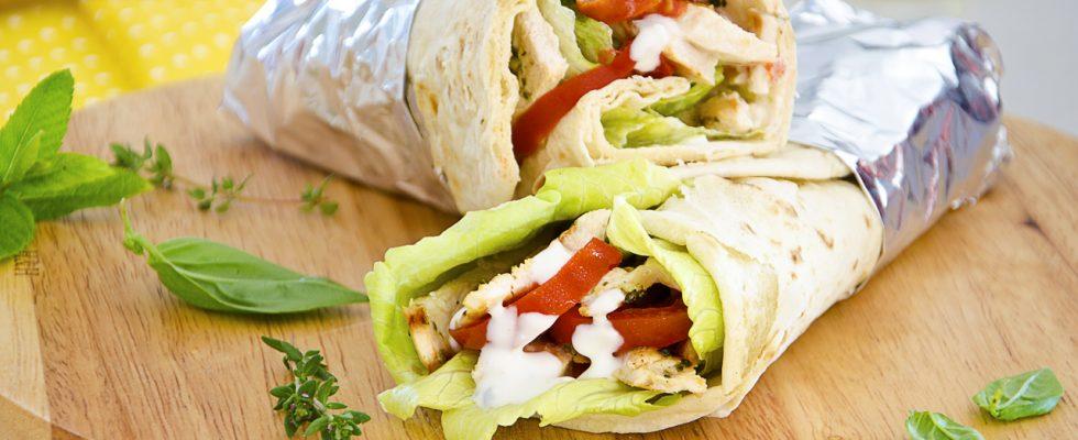 Chicken Wrap, street food americano
