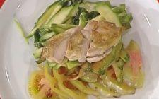 L'insalata di galletto e verdure con la video ricetta della Prova del cuoco