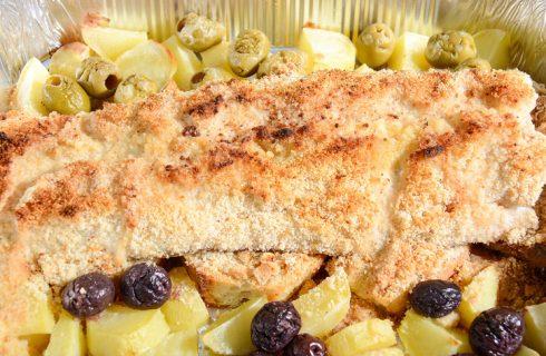 La ricetta semplice del pesce persico gratinato