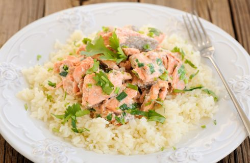 La ricetta del risotto con zenzero e salmone