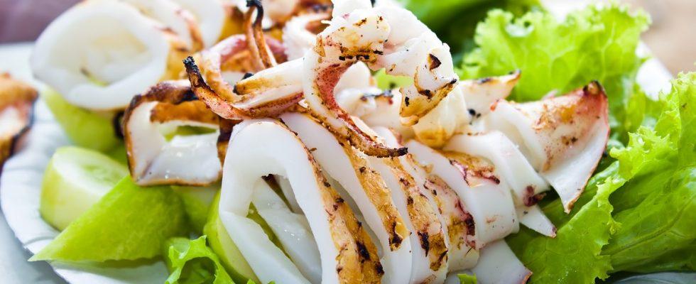 Quanto devono cuocere i calamari alla griglia?