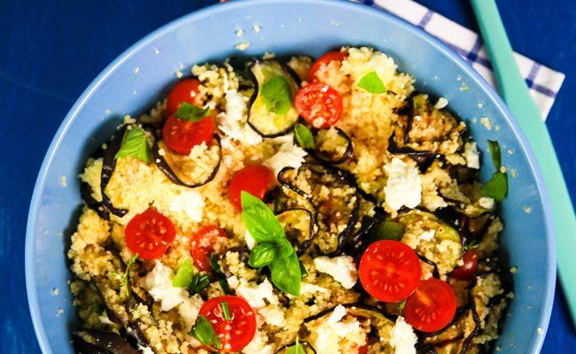 Cous cous melanzane e peperoni, tutto il sapore del Mediterraneo