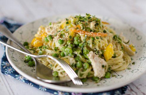 Fidelini pollo e verdure: ispirazione orientale