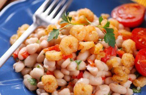 Insalata di fagioli e gamberetti: la ricetta sfiziosa