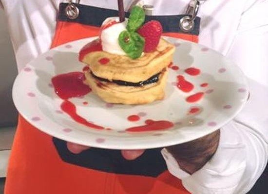 Pancakes espressi con lamponi e gelato della Prova del Cuoco: la video ricetta