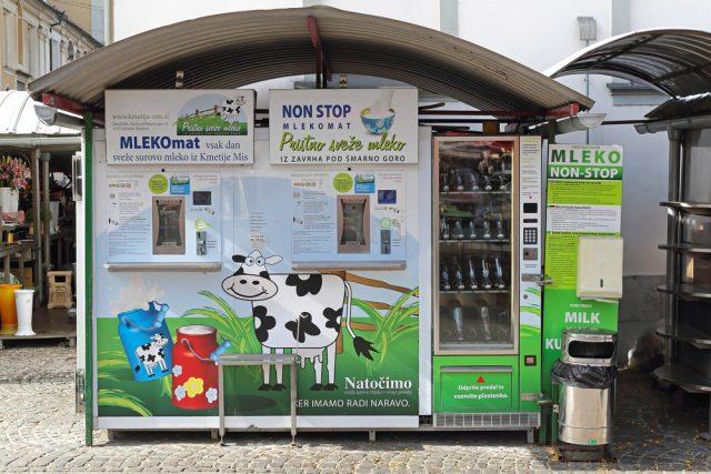 distributore di latte