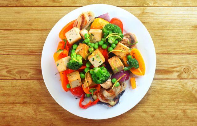 tofu e verdure