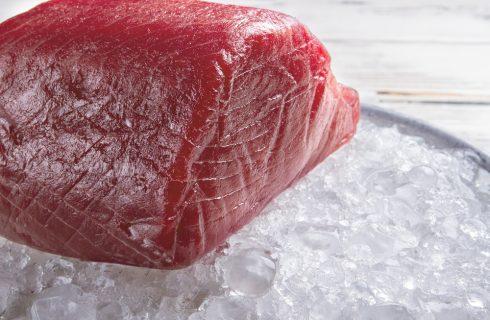 Ritirato filone di tonno congelato sottovuoto