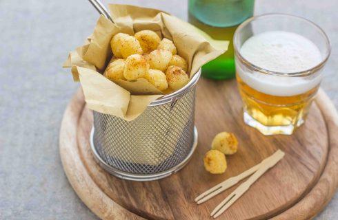 Gnocchetti fritti, per l'aperitivo