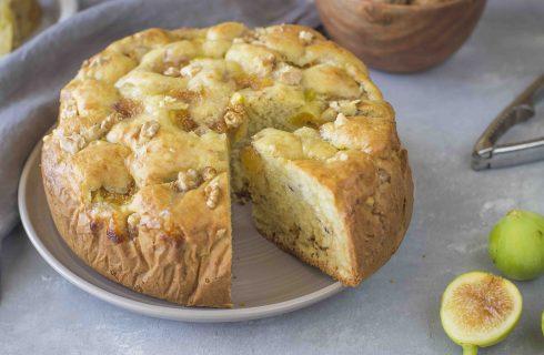 Torta fichi e noci: per l'autunno