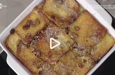 Il bread butter pudding con la video ricetta della Prova del Cuoco