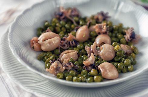 Calamari e piselli, il secondo piatto pieno di sapore