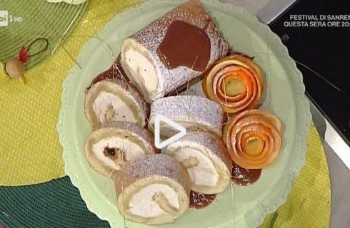 Rollata con cuore di panna al caramello: la video ricetta della Prova del Cuoco