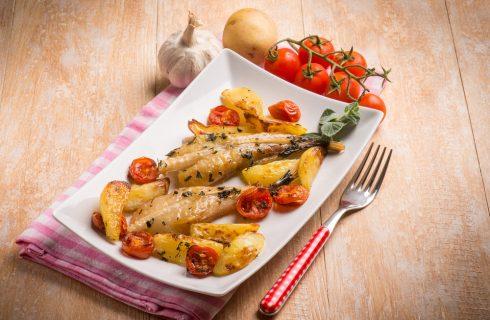 Coda di rospo con patate, secondo piatto di pesce