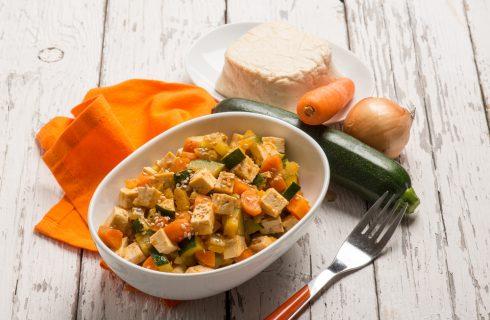 Ratatouille con tofu: per i vegani