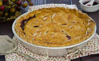 Crostata con farina di avena e confettura d'uva, golosissima