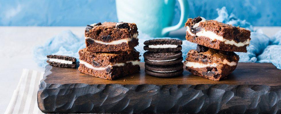 Brownies al cioccolato farciti, la ricetta golosa