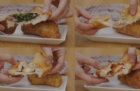 Calzoni fritti, lo street food italiano