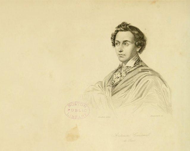 Marie-Antoine Careme (1784-1833). Artist: Steuben, Charles de (1788-1856)