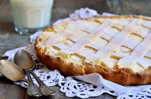 La crostata di ricotta e mascarpone per il dessert di fine pasto