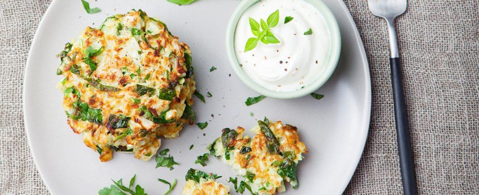 La ricetta delle frittelle di zucchine al forno