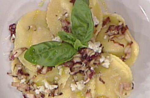 I medaglioni ripieni con ricotta tartufata e radicchio padellato con la video ricetta della Prova del Cuoco
